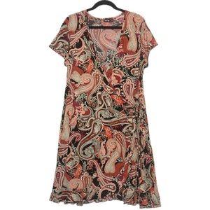 Plus Size 1X Paisley Wrap Dress Apt 9